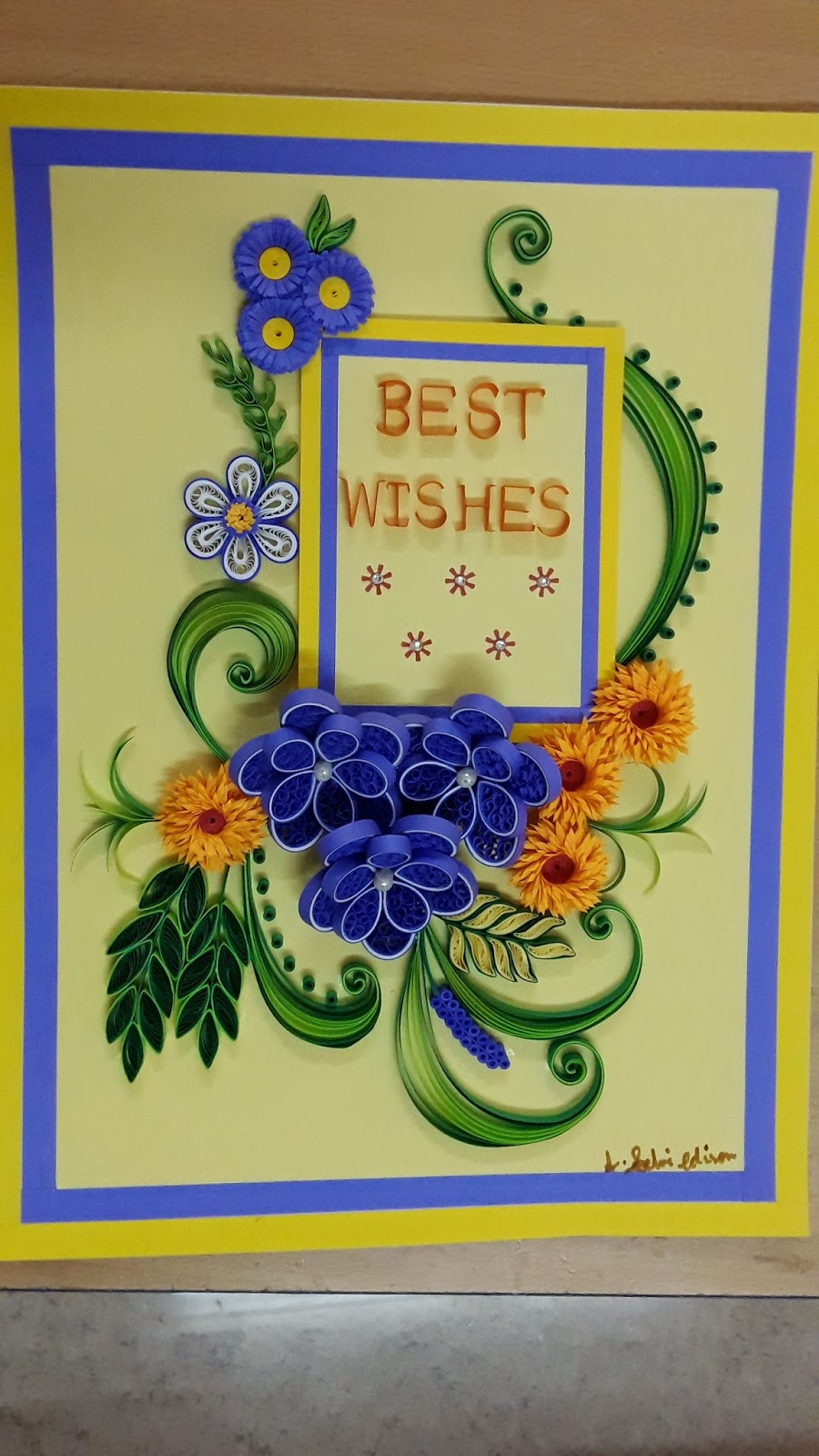 Seldvi\'s quilling : Paper quilling wall art