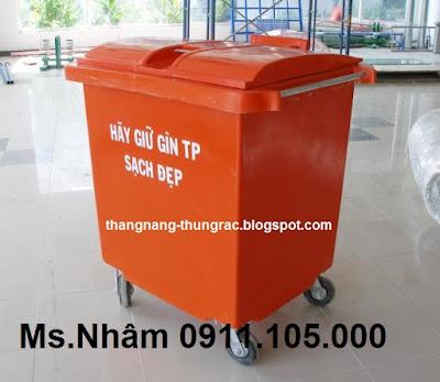 thung rac cong cong 660 lit