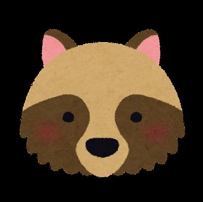 狸の顔のイラスト