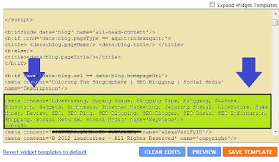 Meta Tag Ideal untuk Blogger