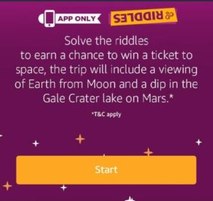 Amazon Riddles Quiz March