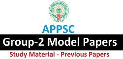 APPSC Group-2 Model Papers 2016