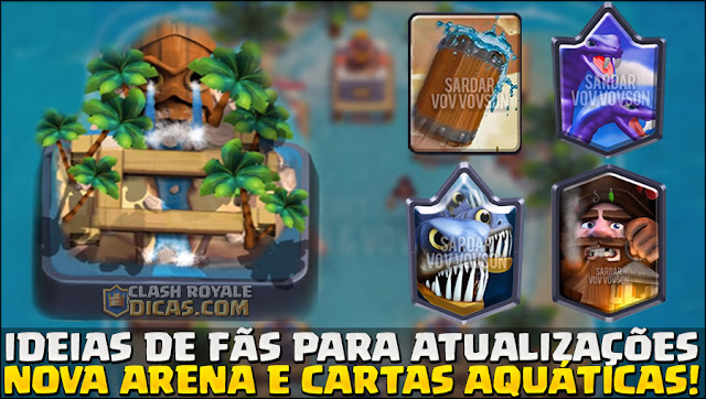 Tropas Aquáticas no Clash Royale