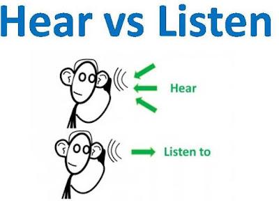perbedaan hear dan listen