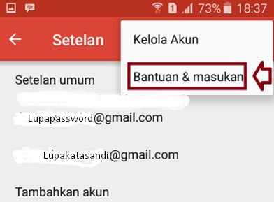 cara mengubah password gmail yang lupa