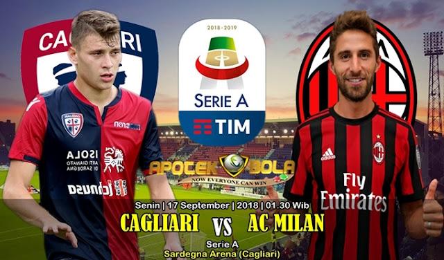 Prediksi Cagliari vs AC Milan 17 September 2018