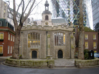 The Church of St Helen Bishopsgate in the City of London, where Gentili is buried