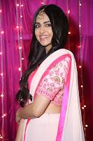 Adaa Sharma in White Pink Saree at Zee Telugu Apsara Awards 2017 42.JPG