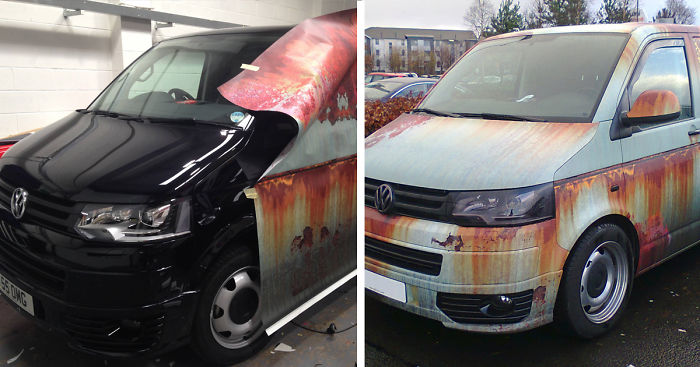 Rusty Car Vinyl Wrap Volkswagen Van Clyde Wraps