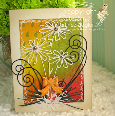 fall daisy card front