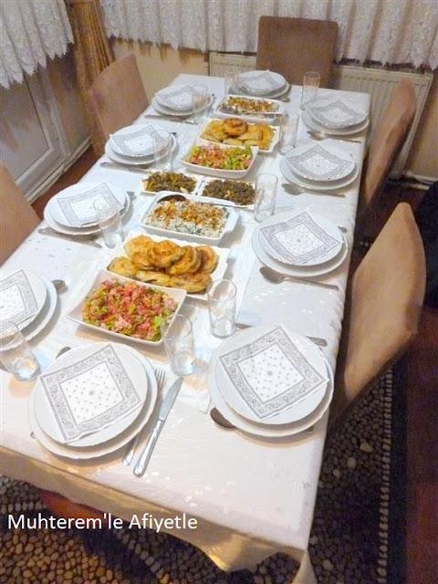 akşam yemeği masası resimli