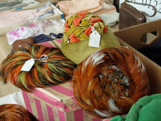 1960s feather pillbox hats