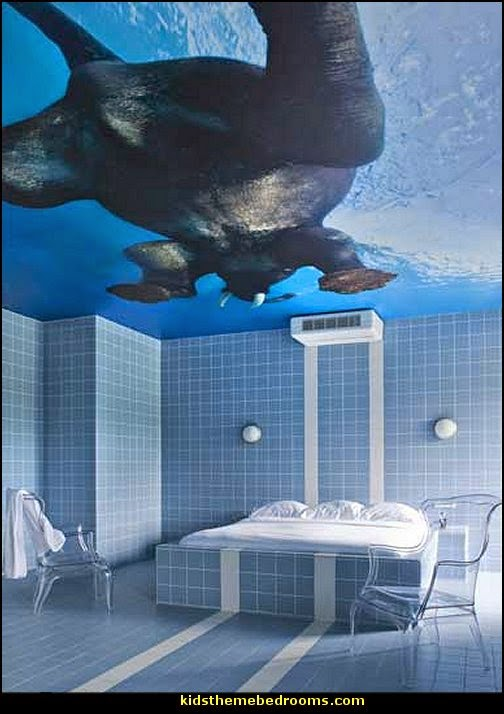 swimming pool theme bedroom ideas - Pool Bedroom - Swimming pool themed bedroom - swimming pool theme bedroom mural ideas - swimming theme decor - Swimmer Wall Decal
