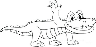 Baby Aligator Coloring Pages