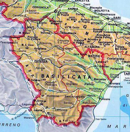 Lavello Potenza Cartina Geografica.Campi Di Volo In Basilicata
