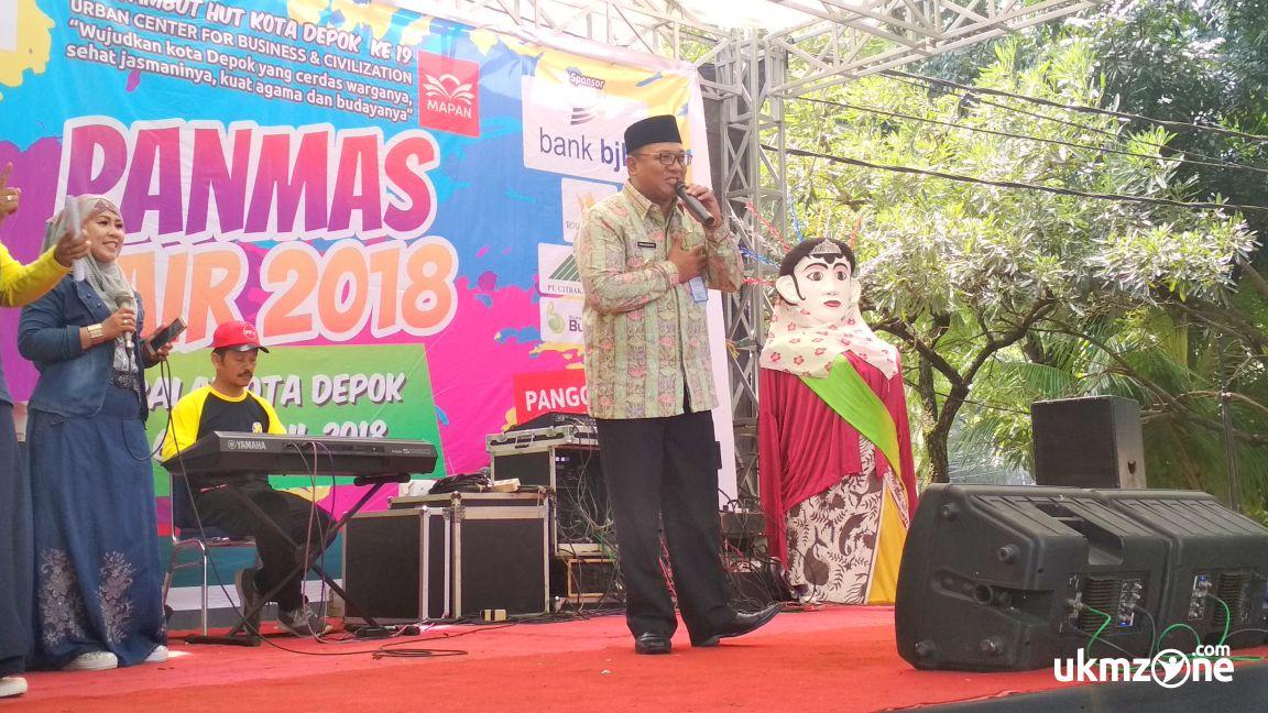 Wakil wali kota Depok di acara pembukaan PANMAS FAIR 2018