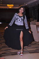 Akshatha in a lovely Leg Split Black Gown Cross legged Latest Stills 16.JPG