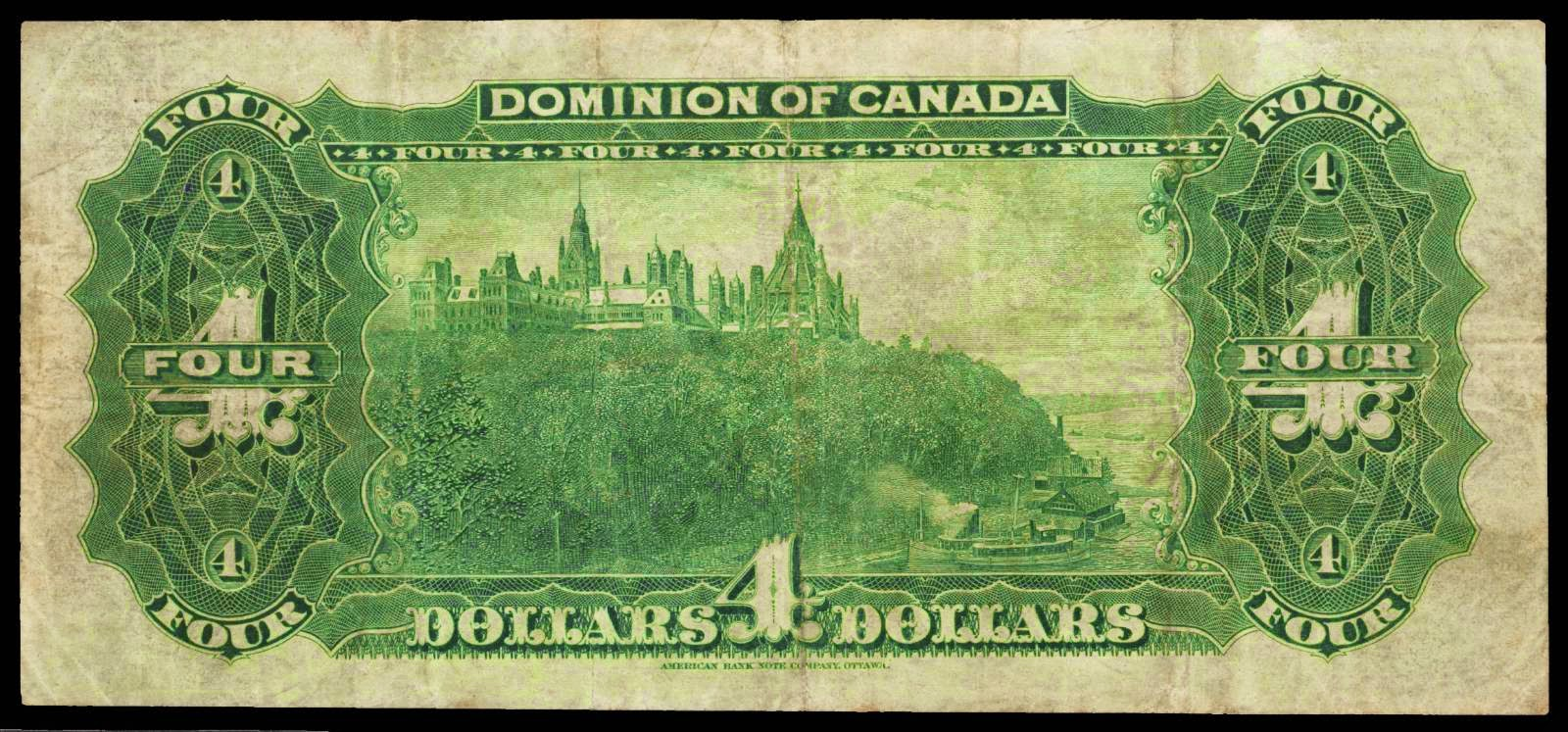 Dominion of Canada 1902 4 Dollar Bill