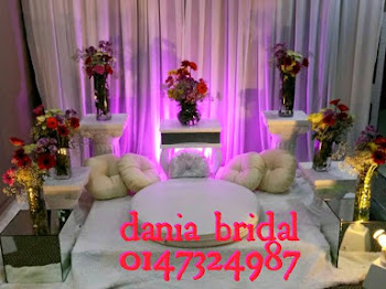 Mini pelamin Budget fresh flower