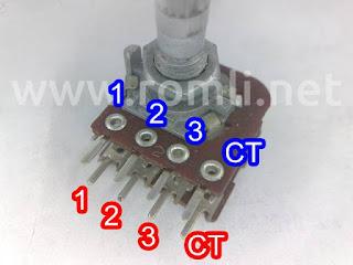 Potensiometer 8 pin stereo CT