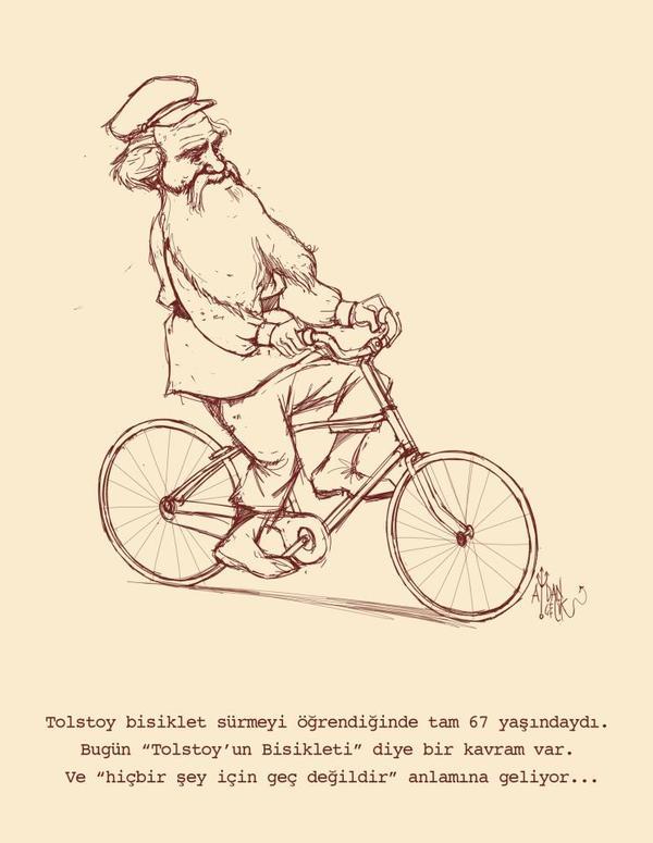 tolstoyun bisikleti ve geç almak