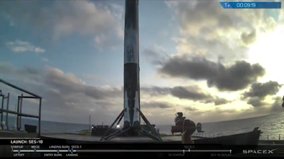 SpaceX Falcon 9 back on the planet again.