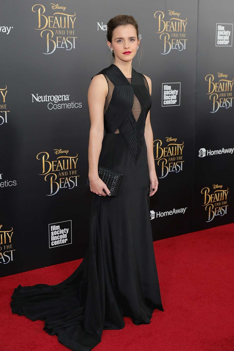 Emma Watson is glamorous in Givenchy at the Beauty and the Beast NY premiere