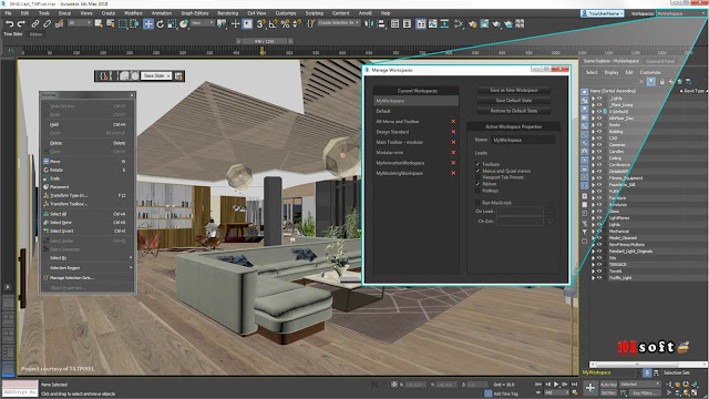Autodesk 3DS MAX 2018 Interactive Offline Setup File Free Download