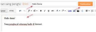 Cara posting di blog baru