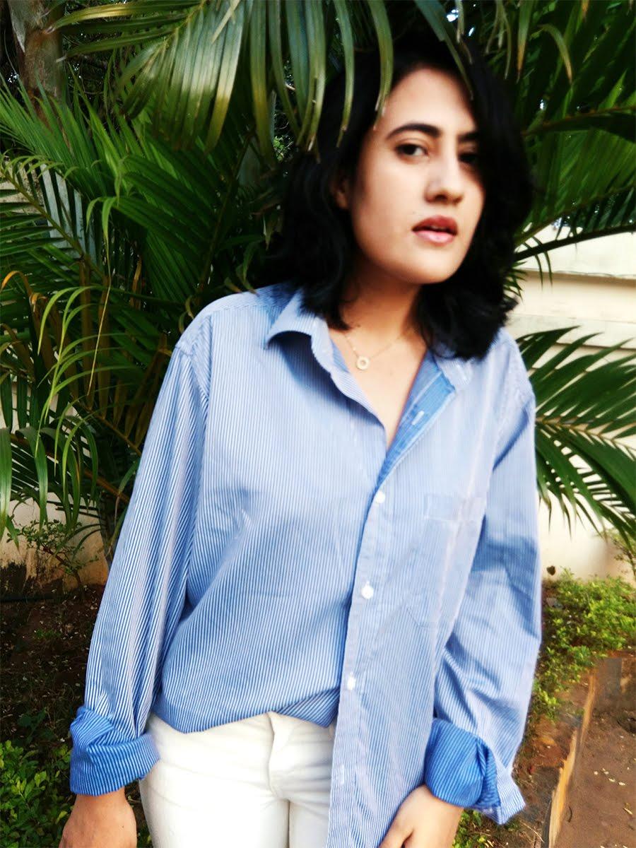 striped shirt,white denim, fashionblog,fashionblogger
