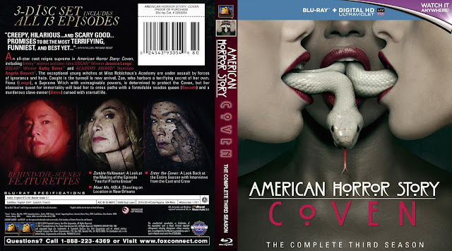 American Horror Story Coven Season 3 Bluray Cover