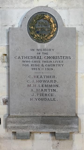 Chichester Chorister Memorial 1914-19