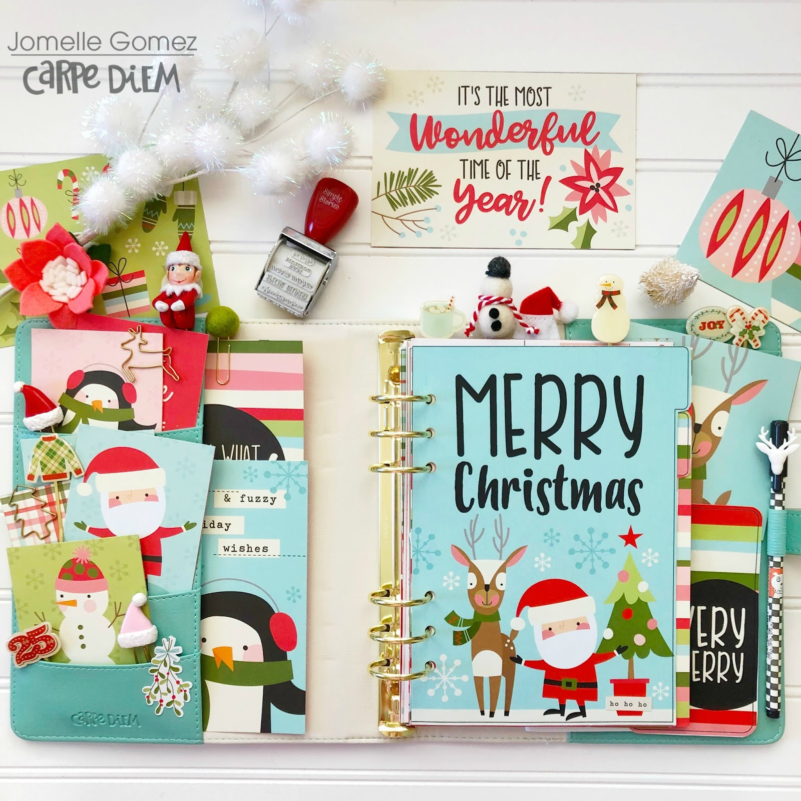 Oh What Fun Holiday Planner Set Up | Simple Stories