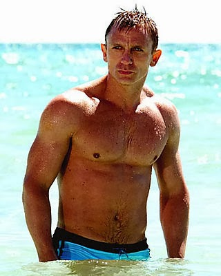 Daniel Craig, James Bond, Casino Royale, Daniel Craig, Daniel Craig Blue Trunks