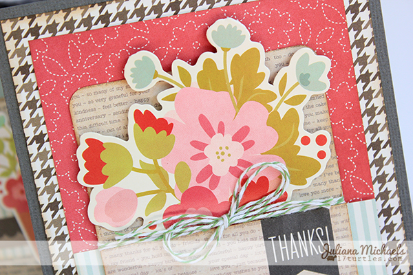 Pebbles Front Porch Thank You Card by Juliana Michaels detail