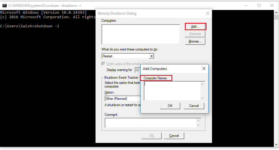 How to remote shutdown a pc on a lan?