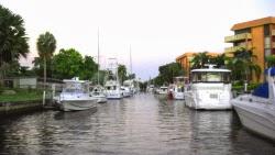 Sehenswürdigkeit der Wasserkanäle in Fort Lauderdale, Florida USA