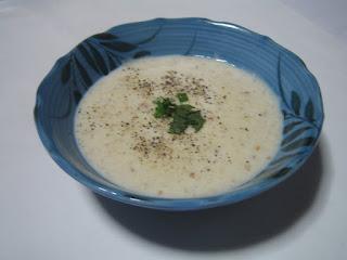 料理したレンコンスープの写真です。