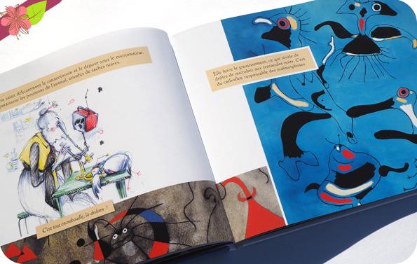 Le Tamafumoir et la Magissorcière de Hélène Kérillis et Xavière Devos d'après Joan Miró - Léon art & stories
