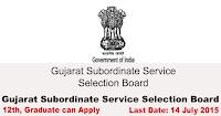 Gujarat Subordinate Service Selection Board Recruitment 2015