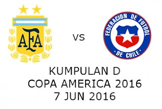 Live Streaming Keputusan Argentina Vs Chile 7 Jun 2016