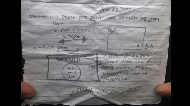 Secarik kertas ancaman untuk polisi