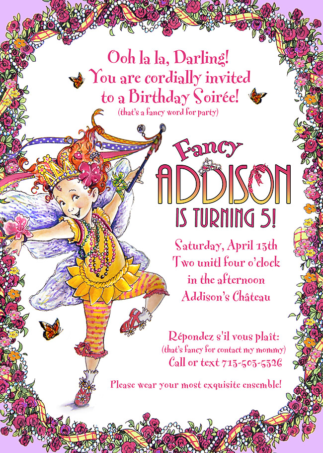 Well-liked Parsons 411: Addison's Fancy Nancy Birthday Party NW86