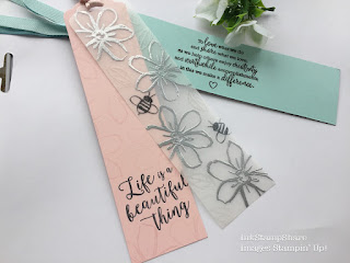 Book marks made using Stampin Up products