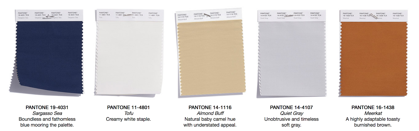 Pantone Colour Trends A W 2018 2019 Kukka