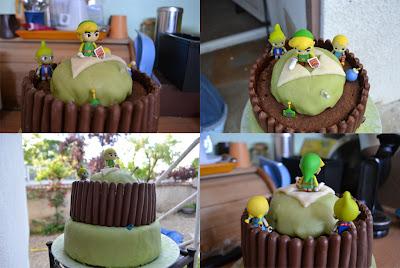 Gâteau la légende de Zelda