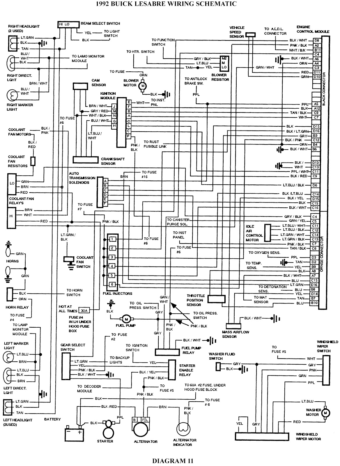 1997 buick lesabre wiring diagram 2002 chevy trailblazer factory stereo 1992 schematic