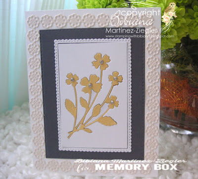 inlay flowers front card