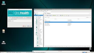 GNU Health σε Raspberry Pi3 με γραφική διεπαφή XFCE σε openSUSE Tumbleweed