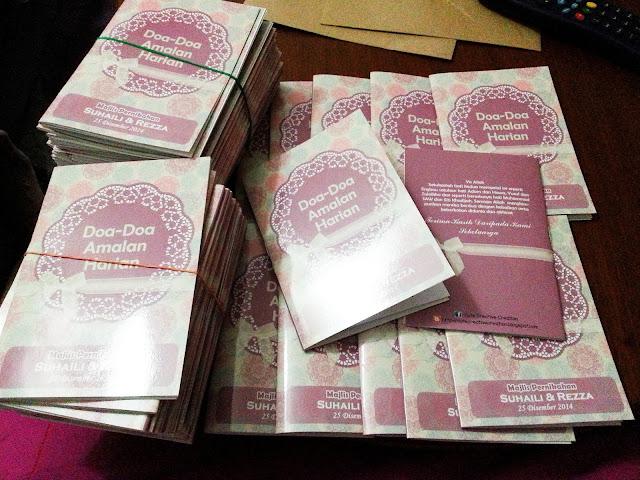 doorgift buku doa murah